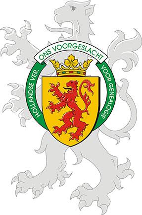 Het wapen van de Hollandse Vereniging voor Genealogie 'Ons Voorgeslacht'
